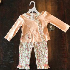 Laura Ashley 2 Piece Cardigan & Pants Set